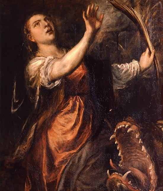 olio su tela del Tiziano